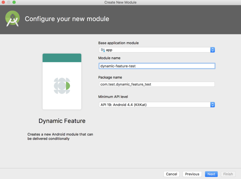 Create dynamic feature module step 2